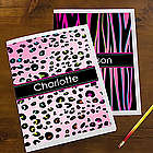 Animal Print Personalized School Folders