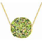 Peridot Fashion Pendant in 14K Yellow Gold