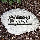 Engraved Dog's Yard Garden Stone