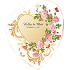Flower Garden Heart Wedding Floor Decal