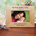 Personalized My First Mother's Day Wood Picture Frame