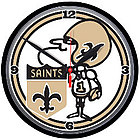 "New Orleans Saints ""Sir Saint"" Round Clock"