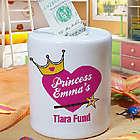 Personalized Tiara Fund Jar