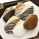 Belgian Chocolate Dipped Madeleine Cookies