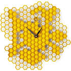 Busy Bee Honeycomb Wall Clock