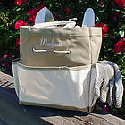 Embroidered Garden Tool Tote Bag with Tools