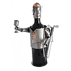 Handmade Male Golfer Recycled Metal Wine Caddy