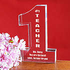 Number One Teacher Personalized Award