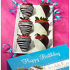 Happy Birthday Chocolate Dipped Strawberries
