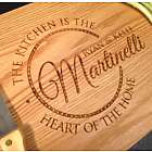 The Kitchen is the Heart of the Home Personalized Cutting Board