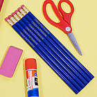 Engraved Blue School Pencils