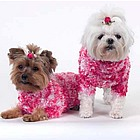 Funky Fur Pink Dog Sweater