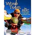 World Travel Personalized Magazine Cover