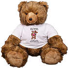 Personalized Hugging Couple Anniversary Teddy Bear