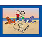 Couple on the Beach Lovers Cartoon