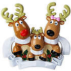 Personalized 3 Reindeer Family Ornament