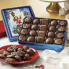 Chocolates and Truffles Holiday Gift Tin