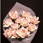 1 Dozen Peaches and Cream Paper Roses