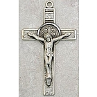 Sterling Silver St. Benedict Crucifix Pendant Necklace