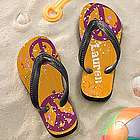 Personalized Peace Sign Flip Flops for Girls