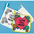 "Canvas ""Color-Your-Own"" Mom Pot Holders"