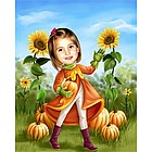 Pumpkin Patch Personalized Caricature