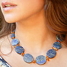 'Mystery' Lapis and Amber Jewelry Set
