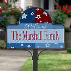 All American Family Name Personalized Yard Stake