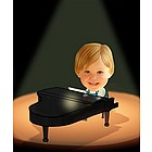 Your Photo in a Little Pianist Caricature