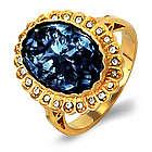 Royal Regalia Princess Diana Sapphire Swarovski Crystal Ring
