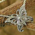 Sterling Silver Butterfly Pendant Necklace