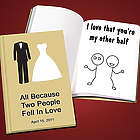 Personalized Our Wedding Love Book