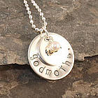 Round Faith Personalized Hand Stamped Necklace