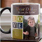 Photo Fun for Him Personalized Coffee Mug with Black Handle