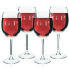 4 Monogrammed Sophisticated Wine Glasses