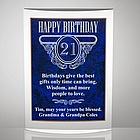 Milestone Acrylic Birthday Plaque with Blue Marble Finish