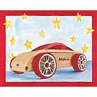Personalized Wooden Car Watercolor