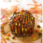 Fall Caramel Apple with Reese's Pieces