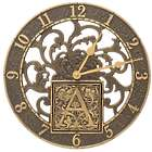 "Silhouette Monogram 12"" Indoor/Outdoor Wall Clock"