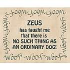 Personalized No Ordinary Dog Plaque