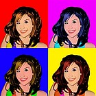 Andy Warhol Style Photo Print with 4 Panels