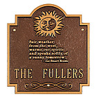 Personalized Fair Weather Plaque