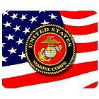 US Marine Corps Stars and Stripes Mouse Pad