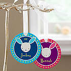 Kid's Personalized Trendy Bunny Easter Ornament