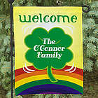 Personalized Four Leaf Clover Garden Flag