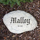 Engraved Family Establishment Garden Stone
