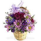 Lavender Fields Bouquet Basket