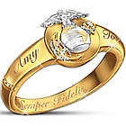 Semper Fidelis Personalized Diamond Woman's Ring