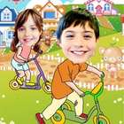 Your Photo in a Biking In Wonderland Caricature