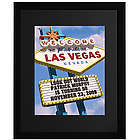 Personalized Las Vegas Sign Framed Print